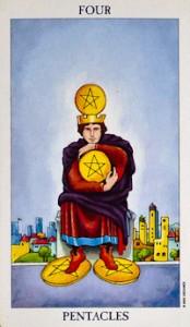four of pentacles tarot card meanings 4 of pentacles tarot card