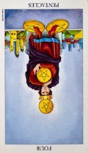 four of pentacles tarot card meanings