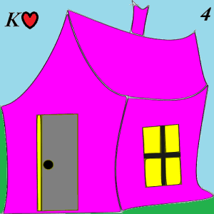 Lenormand card 4 house