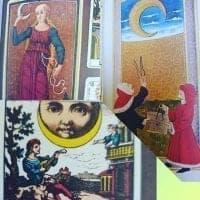 History of the Moon tarot card